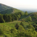 The Malvern Hills, where Elgar was born, one of Diana's favourite composers