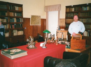 John in Lenin's library