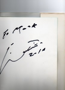 The great man's autograph, born in Mozambique, record goal scorer with 9 goals at the 1966 world cup in England and European Footballer of the Year in 1965 and world soccer player of the year in the same year