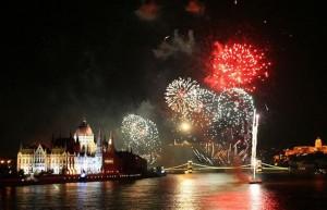 Fireworks in Budapest