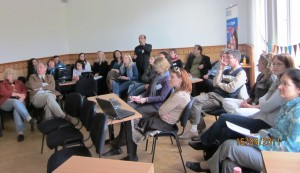 Watching Bright-online at the NYESZE conference in Budapest