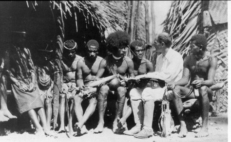 Bronislaw Malinowski meeting the locals on the Trobriand Islands , just like our teachers in Devon