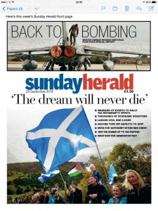 sunday herald post referendum